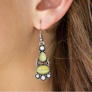 Glowing Yellow Moonstone Earrings NWT